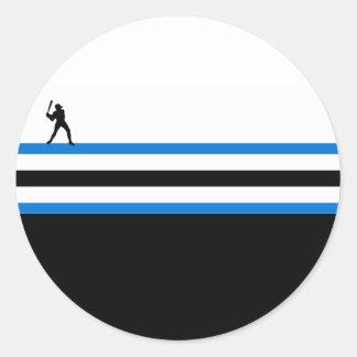 baseball : airstar : round sticker