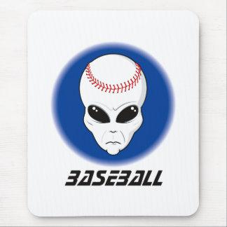 Baseball Alien Skull Mouse Pad
