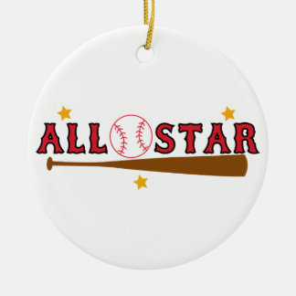 Baseball All Star Christmas Ornament