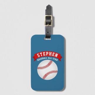Baseball All-Star Luggage Tag