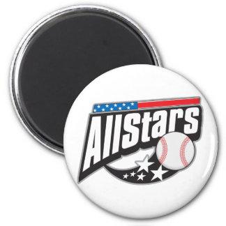 Baseball All Stars 6 Cm Round Magnet