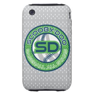Baseball All Stars - Green iPhone 3 Tough Case