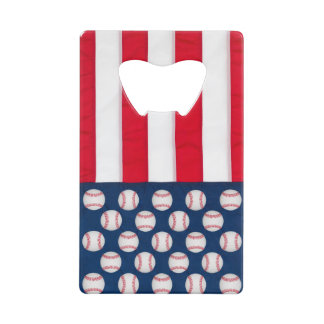 Baseball & American flag bottle opener