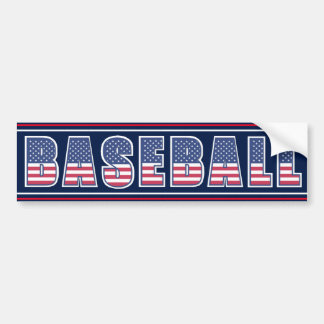 Baseball Americana Edition Bumper Sticker