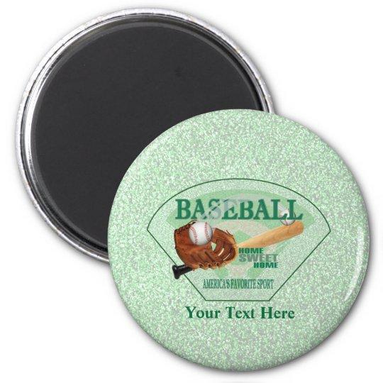 Baseball – Americas Favourite Sport Design Magnet