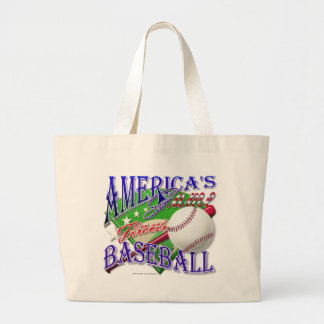 Baseball America's Game Large Tote Bag