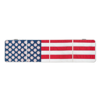 Baseball and American flag pong table