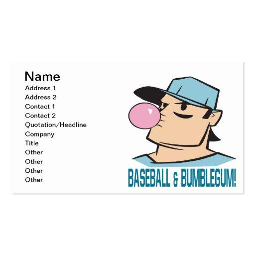 Baseball And Bubblegum Business Card Templates