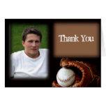 Baseball and Glove Graduation Thank You card