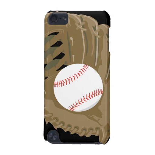 baseball and glove mitt iPod touch (5th generation) cases