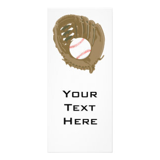 baseball and glove mitt rack card design