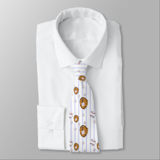 Baseball and Glove Pattern Tie