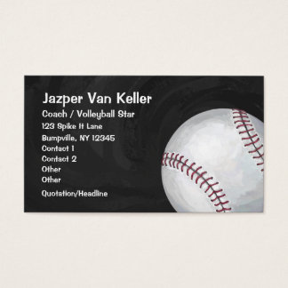 Baseball Art  Front and Back Business Card