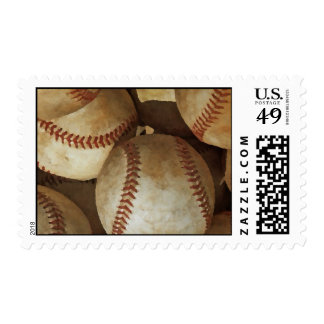 Baseball Artwork Postage Stamp