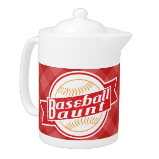 Baseball Aunt Tea Pot
