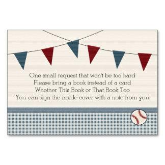 BASEBALL BABY SHOWER BOOK REQEUST CARD