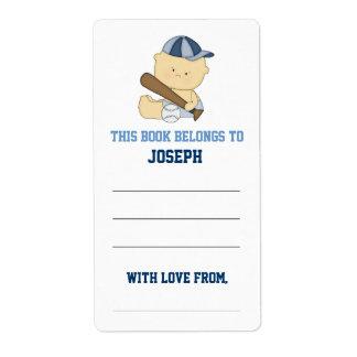 Baseball Baby Shower Bookplate