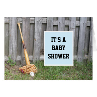 Baseball Baby Shower Invitation Greeting Card