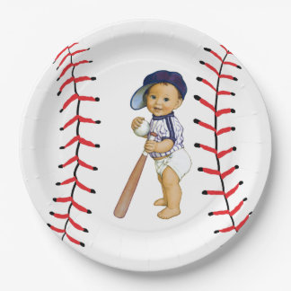 Baseball Baby Shower Paper Plate