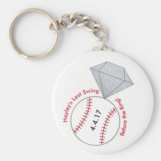 Baseball Bachelorette Party Favour Key Ring