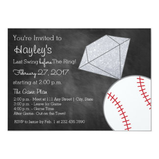 Baseball Bachelorette Party Invite- Last Swing Card