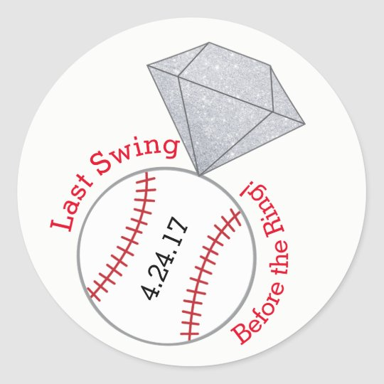 Baseball Bachelorette Sticker- Last Swing Round Sticker