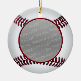 baseball ball photo ornament