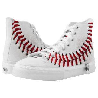 Baseball ball printed shoes