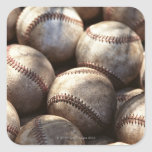 Baseball Ball Square Stickers