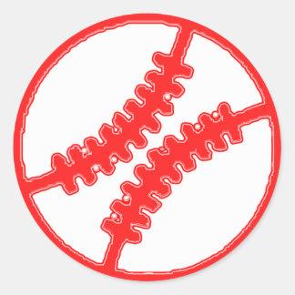 BASEBALL BALL ROUND STICKERS