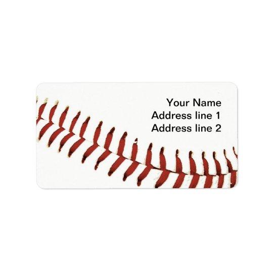 baseball ball stitching address label