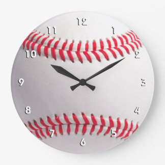 Baseball ball wall clock with numbers