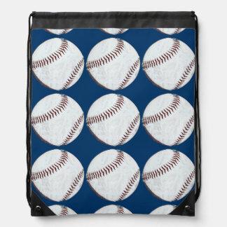 baseball balls sports pattern drawstring bags