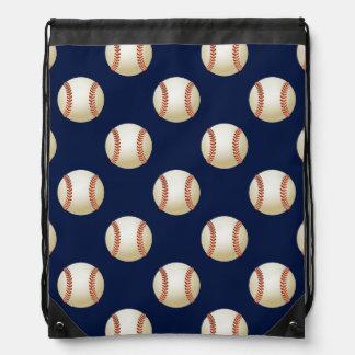 Baseball Balls Sports Pattern Cinch Bags