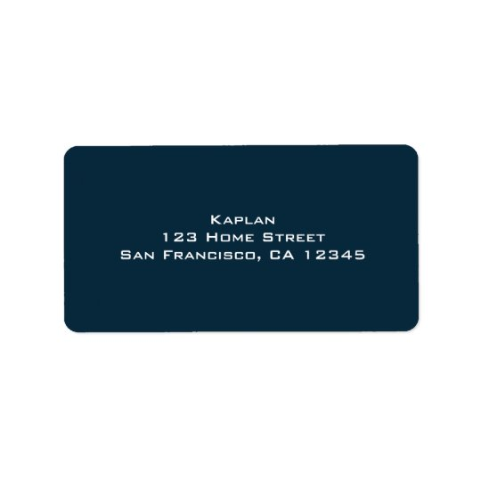 Baseball Bar Mitzvah Return Address Label
