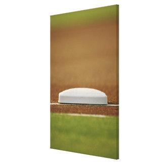 Baseball base canvas print