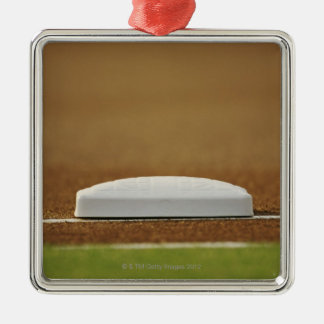 Baseball base christmas ornament
