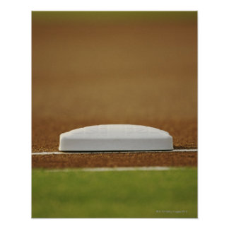 Baseball base poster