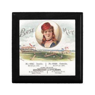 Baseball bases Hit song Vintage From Havana Small Square Gift Box