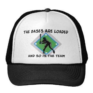 Baseball Bases Loaded Mesh Hats