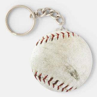 Baseball Basic Round Button Key Ring