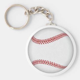 Baseball: Basic Round Button Key Ring
