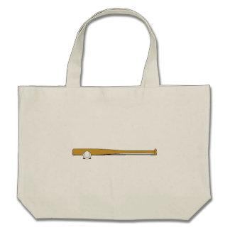 Baseball Bat And Ball Canvas Bags
