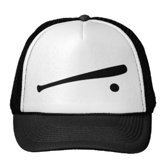 baseball bat and ball icon cap