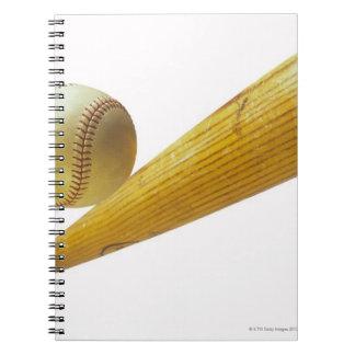 Baseball bat and ball notebooks