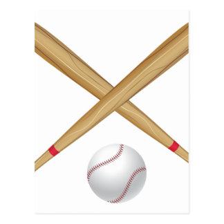 Baseball Bat and Ball Postcard