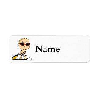 baseball bat baby return address label