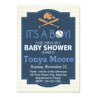 Baseball Bat Baby Shower Invitation