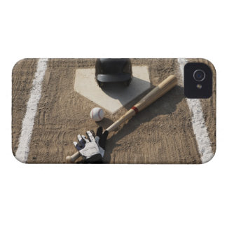 Baseball, bat, batting gloves and baseball iPhone 4 covers