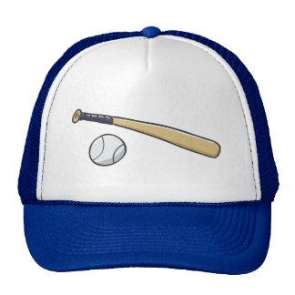 Baseball Bat n Ball Mesh Hat